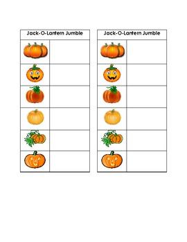 Jack-o-lantern Jumble