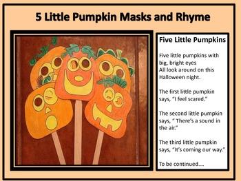 Jack-o-Lantern Masks and Rhyme
