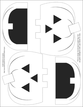 Jack-o-lantern Paper Bag Puppet and Little Pumpkin Poem