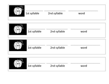Jack-o-lantern Syllable Game