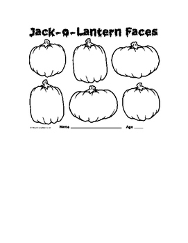Jack o lantern faces- a synonym game