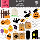 Jack-o-lanterns Clipart, Halloween Clipart, Haunted House Clipart - Fall107
