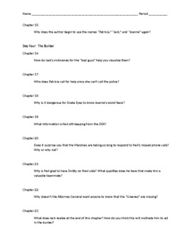 Jack's Run Comprehension Questions