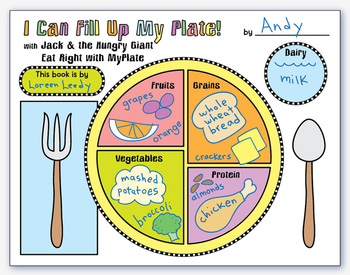 MyPlate book activity