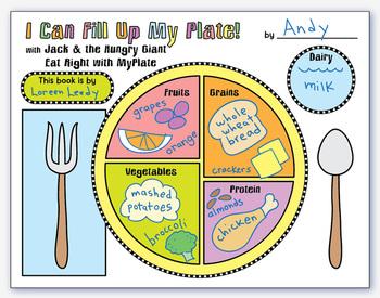 MyPlate book activity