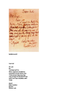 Jack the Ripper from Hell transcription