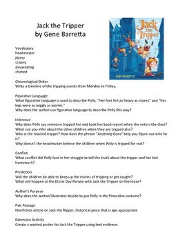 Jack the Tripper by Gene Barretta - Teaching Literary Skills with Picture Books
