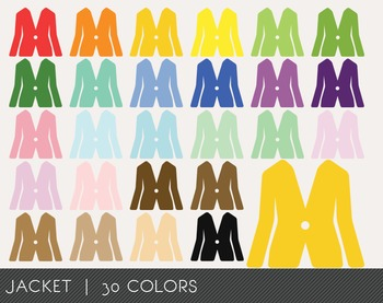 Jacket Digital Clipart, Jacket Graphics, Jacket PNG, Rainbow Jacket Digital