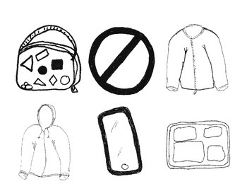 Jackets, iPhone, Lunch Tray and Lunch Box
