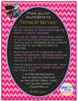 Jackie Crews Terms of Service