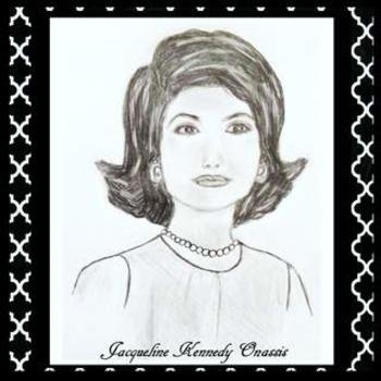 Jackie Kennedy Onassis Clip Art Sketch