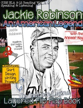 "JACKIE ROBINSON BIOGRAPHY ""AN AMERICAN LEGEND,"" FLIP BOOK"