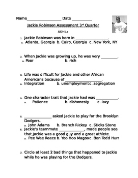 Jackie Robinson Assessment