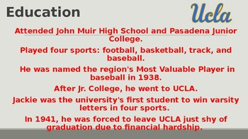 Jackie Robinson Background PowerPoint