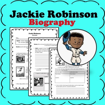 Jackie Robinson Biography Close Reader