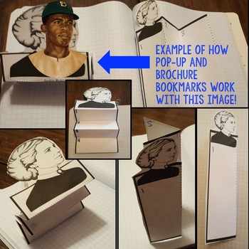 Jackie Robinson Biography Research, Bookmark Brochure, Pop-Up, Writing