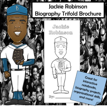 Jackie Robinson Biography Trifold Brochure