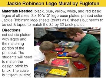 Jackie Robinson Black History Collaborative Lego Mural