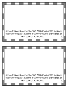 Jackie Robinson Printable Book - Black History - Famous African Americans