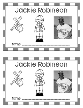 Jackie Robinson Printable Book - Black History - Famous Af