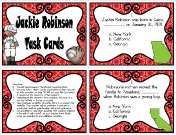 Jackie Robinson (Task Cards Included)