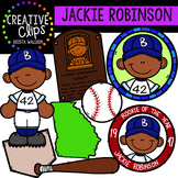 Jackie Robinson  Clipart {Creative Clips Clipart}