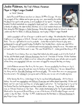 Jackie Robinson Close Read, CCSS & Tennessee Social Studies Standards