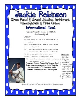Jackie Robinson Close Read, CCSS & Tennessee Social Studie