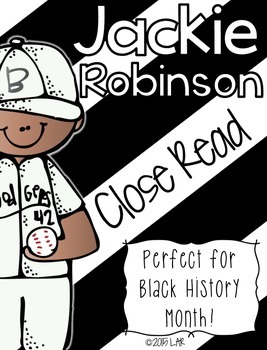 Jackie Robinson Close Read Passage and more!