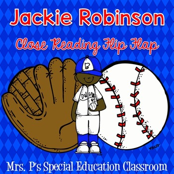 Jackie Robinson Close Reading Flip Flap