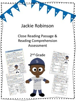 Jackie Robinson Close Reading Passage and Reading Comprehe