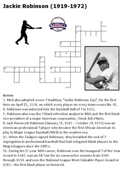 Jackie Robinson Crossword