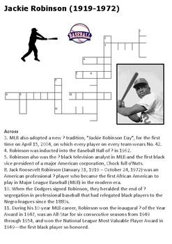 Jackie Robinson Crossword