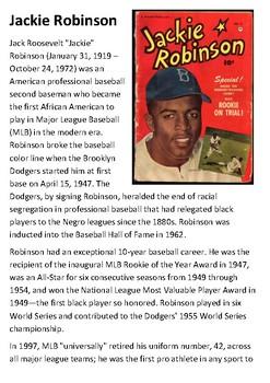 Jackie Robinson Handout