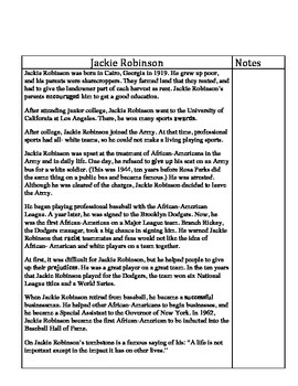 Jackie Robinson- Informational Text