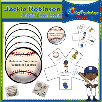 Jackie Robinson Interactive Foldable Booklets - Black History Month