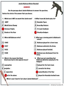 Jackie Robinson: Non-Fiction Passages & Printables