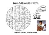 Jackie Robinson Maze Puzzle Sheet