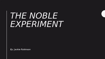 Jackie Robinson Noble Experiment Vocabulary