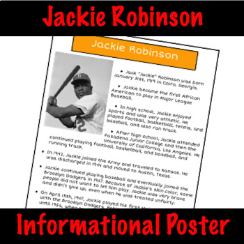 Jackie Robinson - Nonfiction Fact Sheet