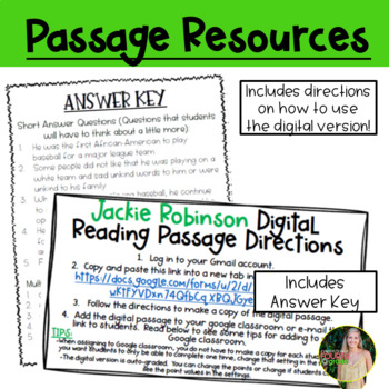 Jackie Robinson Reading Passage