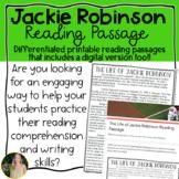 Jackie Robinson Reading Passage- Digital & Printable
