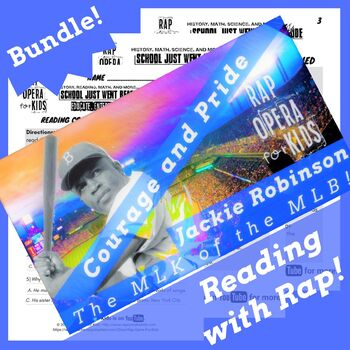 Jackie Robinson Reading Passage Activities Using Biography Rap Song