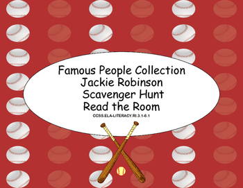 Jackie Robinson Scavenger Hunt- Read The Room- Grades 4-7