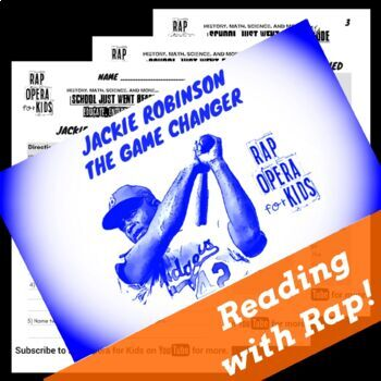 Jackie Robinson Worksheet and Civil Rights Reading Passage with Song