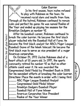 Jackie Robinson Tab Booklet