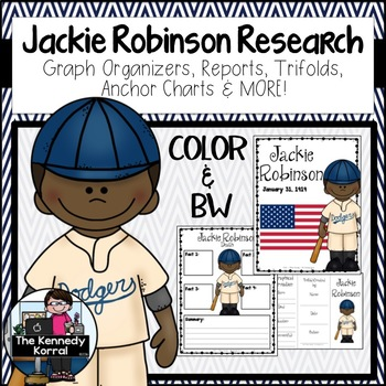 Jackie Robinson Biography Research Bundle {Report, Trifold