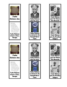 Jackie Robinson Timeline Activity and Assessment