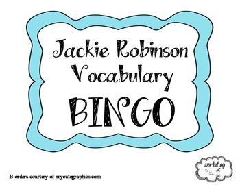 Jackie Robinson Vocabulary BINGO