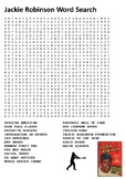 Jackie Robinson Word Search